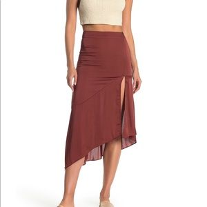 Gorgeous rust colored silk skirt by Free People